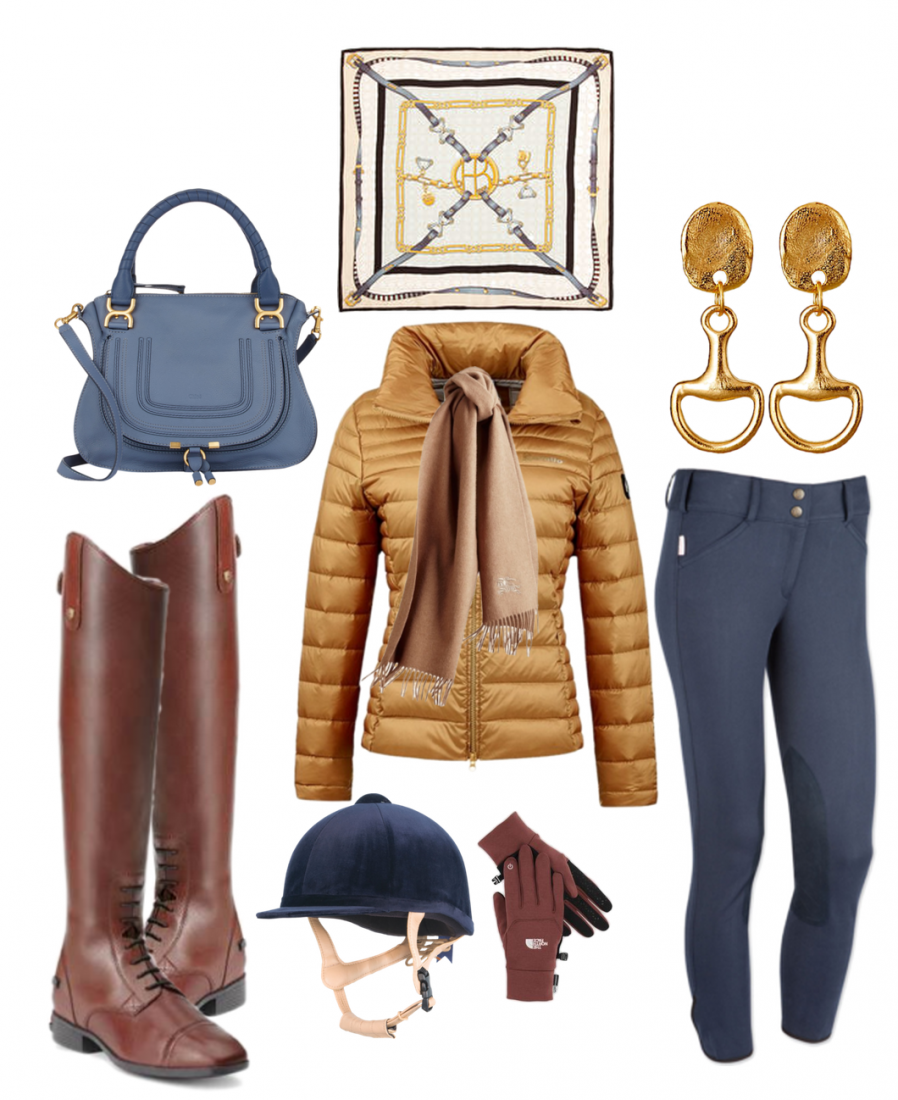 Navy & Gold Equestrian