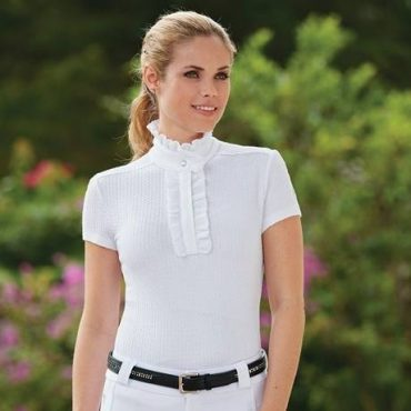 STABLE STYLE: Fits Equestrian Ruffled Show Shirt