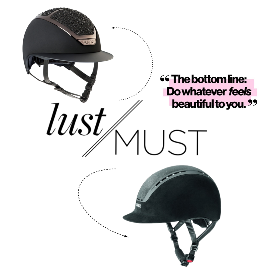 Kask & Uvex Equestrian Helmet Glamour
